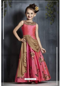 2ce8200b85d Stylish Rani Party Wear Gown for Girls
