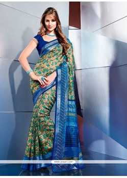 Fabulous Multicolor Art Silk Casual Saree