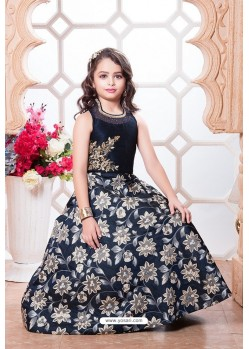 Stylish Blue Party Wear Gown for Girls