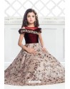 Hot Maroon Party Wear Gown for Girls