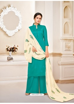 Ravishing Green Embroidered Palazzo Salwar Suit