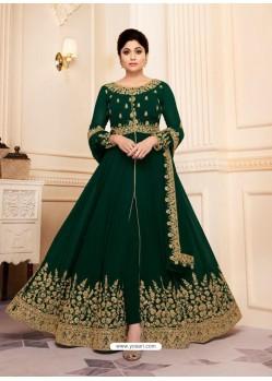 Fabulous Green Embroidery Designer Anarkali Suit