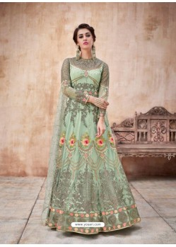 Fabulous Sea Green Designer Anarkali Suit