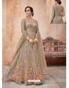 Ravishing Brown Designer Anarkali Suit