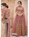 Marvellous Pink Designer Anarkali Suit
