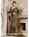 Dazzling Black Bamber Georgette Casual Saree
