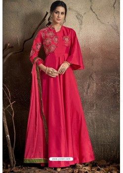 Stylish Magenta Party Wear Gown for Girls