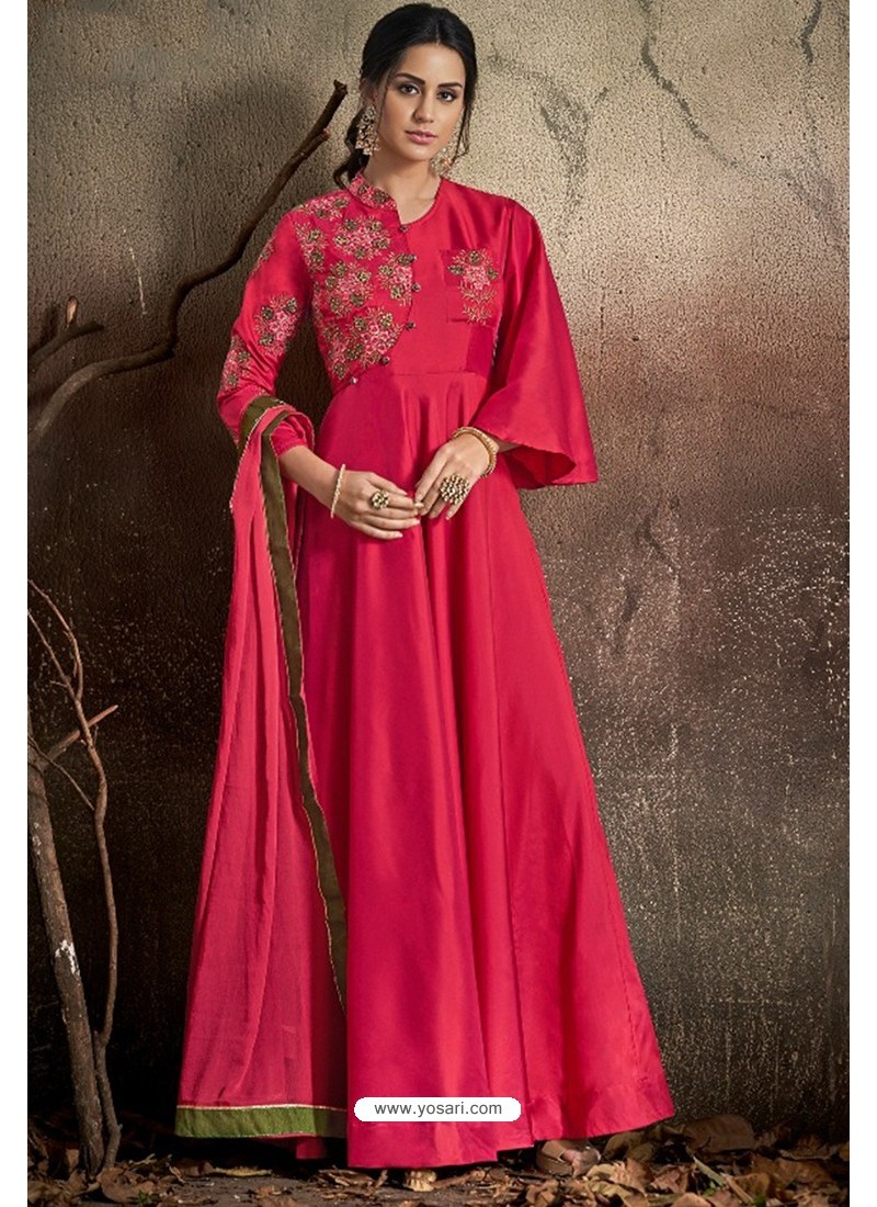 b70a1d46ce Buy Stylish Magenta Party Wear Gown for Girls