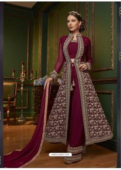 Ravishing Maroon Embroidered Designer Salwar Suit