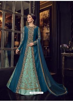 Fabulous Blue Embroidered Designer Salwar Suit