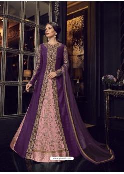 Fabulous Purple Embroidered Designer Salwar Suit