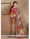 Stellar Multicolor Bamber Georgette Casual Saree
