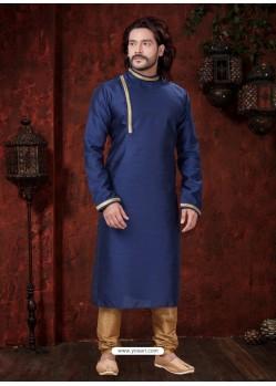 Awesome Navy Blue Kurta Pajama For Men