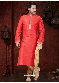 Classy Red Kurta Pajama For Men