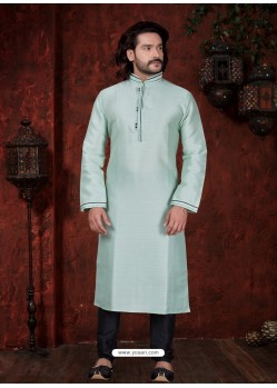 Trendy Sky Blue Kurta Pajama For Men