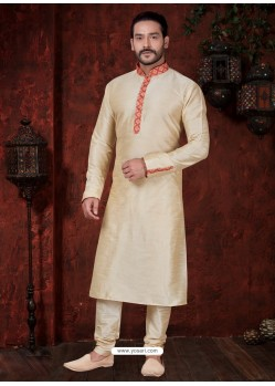 Fabulous Gold Kurta Pajama For Men