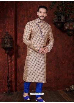 Glossy Camel Kurta Pajama For Men