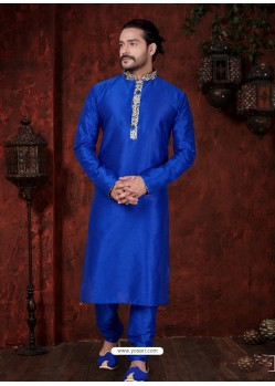 Dashing Royal Blue Kurta Pajama For Men
