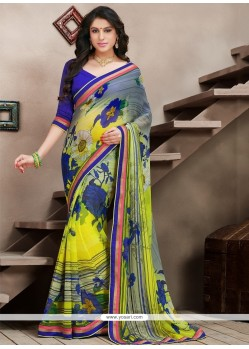 Flashy Multicolor Bamber Georgette Casual Saree