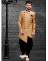 Dashing Beige Indowestern Sherwani For Men