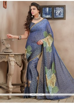 Splendid Grey Brasso Casual Saree