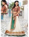 White Chiffon And Net Lehenga Choli