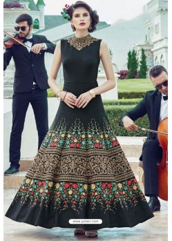 Fabulous Black Party Wear Gown for Girls