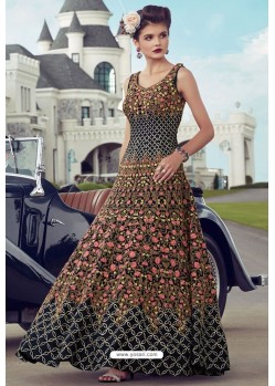 Sizzling Navy Blue Party Wear Gown for Girls