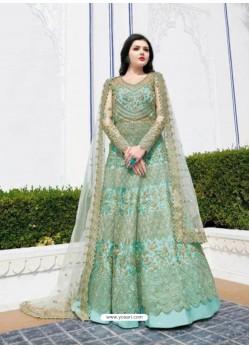 Fabulous Sky Blue Designer Anarkali Suit