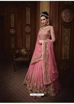 Fabulous Light Pink Embroidered Designer Anarkali Suit