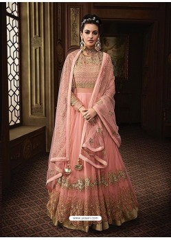 Awesome Pink Embroidered Designer Anarkali Suit