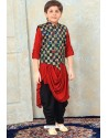 Awesome Red Designer Kurta Pajama For Boys