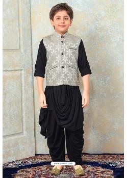 Classy Black Designer Kurta Pajama For Boys