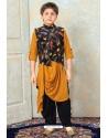 Awesome Mustard Designer Kurta Pajama For Boys