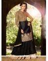 Modish Black Silk And Net Lehenga Choli