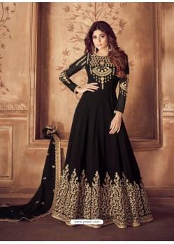 Ravishing Black Embroidered Designer Anarkali Suit