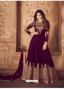 Ravishing Magenta Embroidered Designer Anarkali Suit