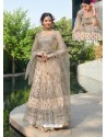Awesome Light Beige Embroidered Designer Anarkali Suit