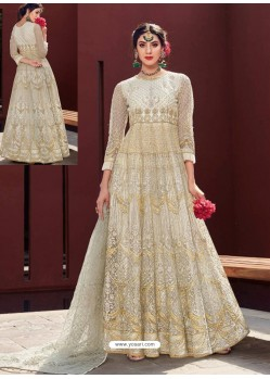 Fabulous Cream Designer Anarkali Suit