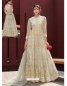 Fabulous Cream Designer Anarkali Suit