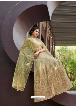 Awesome Beige Embroidered Designer Anarkali Suit
