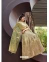 Awesome Beige Embroidered Designer Anarkali Suit