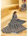 Fabulous Grey Designer Anarkali Suit