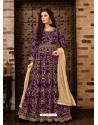 Scintillating Purple Embroidered Designer Anarkali Suit