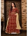Fabulous Red Embroidered Designer Anarkali Suit