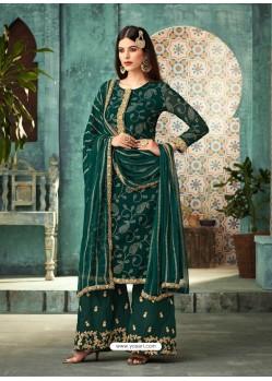 Ravishing Green Embroidered Palazzo Salwar Suit