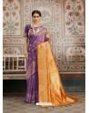 Classy Purple Designer Kanjeevaram Silk Sari