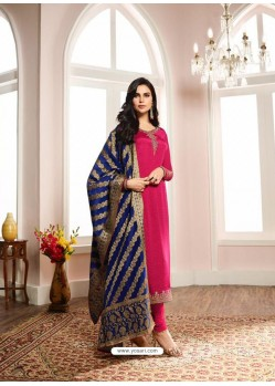 Trendy Rani Embroidered Churidar Salwar Suit