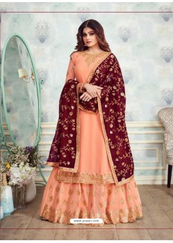 Ravishing Light Orange Designer Palazzo Salwar Suit
