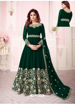 6ab5ec294f Awesome Forest Green Embroidered Designer Anarkali Suit